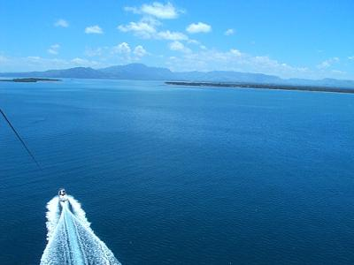 The view from up high of Fiji islands!