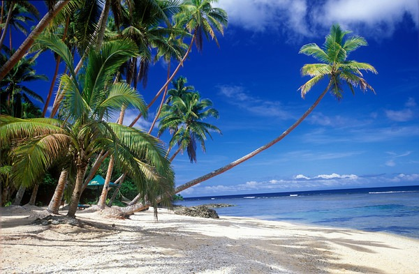 Private beach at Namale Resort & Spa