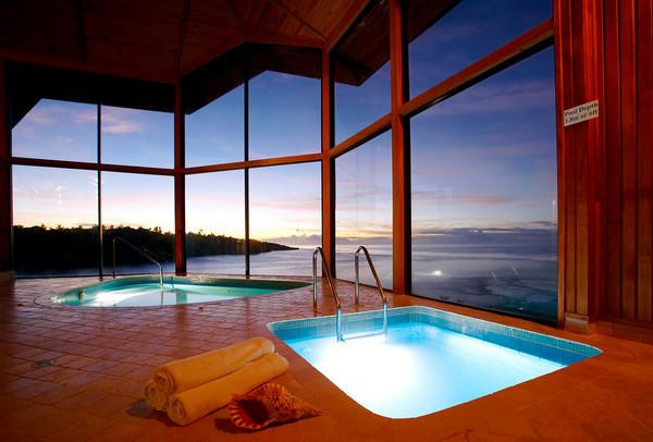 The cliff top spa at Namale Resort & Spa Fiji
