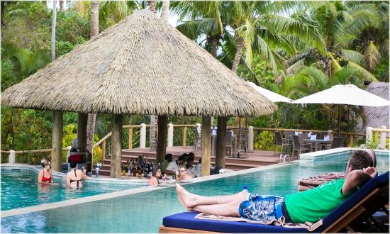 Adult only pool bar  Review of Outrigger Fiji Beach Resort