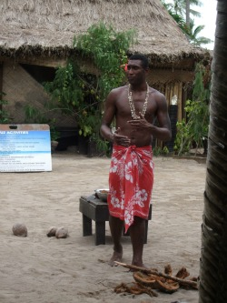 A sulu worn by a man on our day Fiji cruise
