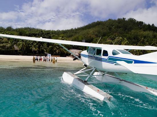 Arriving at Fiji Turtle Island