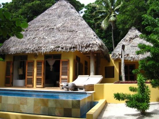 Deluxe bure with pool at  Vatulele Island Resort Fiji