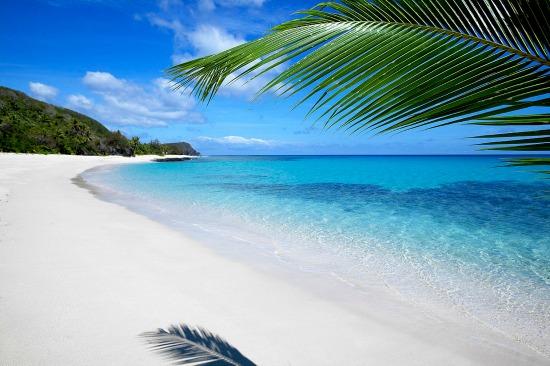 A beach on Yasawa Island